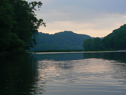 Kayaking in Eggleson - New River at Dusk