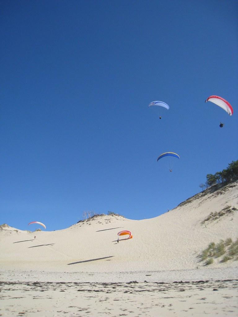 Parapentes sur la dune du Pyla