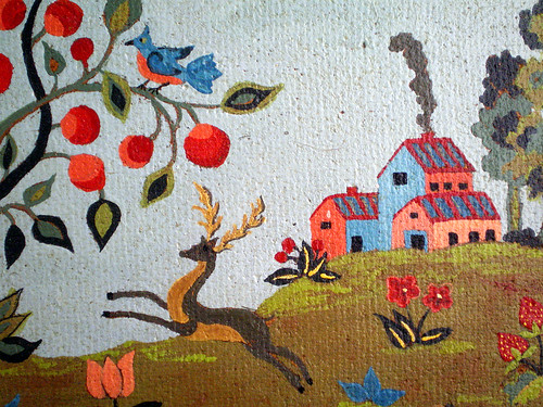 Detail of Folk Art Painting