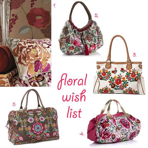 Floral wish list
