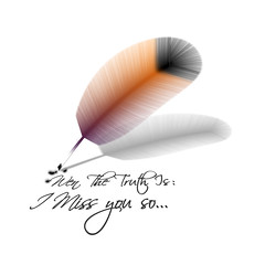 Feather - drawing with brushes (Mouin.M) Tags: desktop photoshop photo google flickr shadows shot image cs2 creative feather cnet tricks help download anchor sample works wallpapers tutorial messingaround