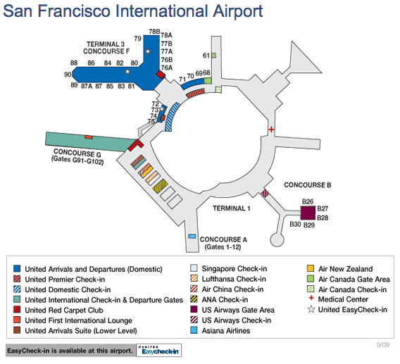 United SFO map