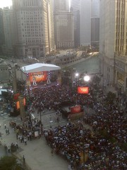 Oprah taping live on michigan avenue