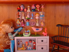 The Doll Collection (raining rita) Tags: dog baby birds ballerina dolls lego 1993 1998 pullip 1991 kenner strawberryshortcake huladancer thimbles littlebopeep minibarbies charmkins crochetdolls fairywinkles devilandangel dutchboyandgirl bubblins