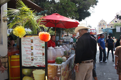 Velarde's Fruit Stand in Olvera St Plaza
