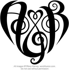 """A&R"" Heart Design"