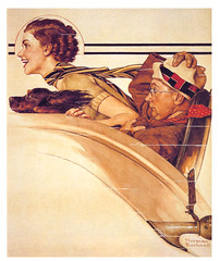 1933--Rumble-seat-by-Norman-Rockwell (x-ray delta one) Tags: life portrait history illustration painting post propaganda patriotic nostalgia americana 20thcentury rumbleseat normanrockwell 1933 magazinecover saturdayeveningpost magazineillustration