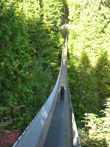 Capilano Suspension Bridge - spans the Capilano River -over 200 feet below