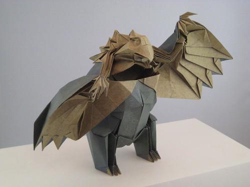 Joseph Wu's Origami - Owlbear - standing adult (final)