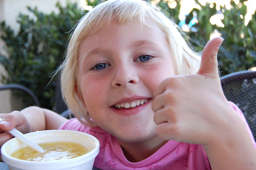 thumbs up for egg drop soup