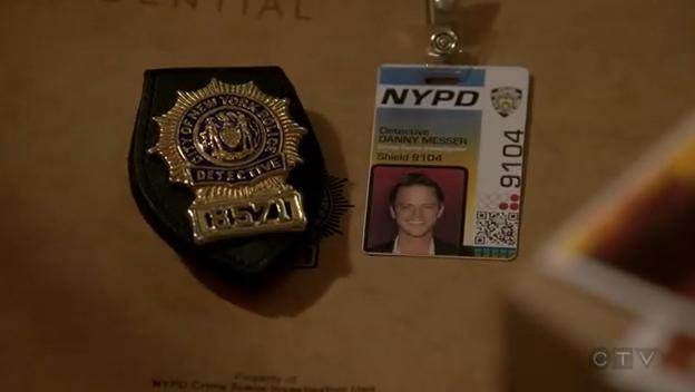 Danny's ID and badge