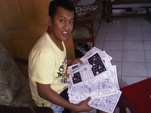 Rosgana and his finished 24hr comic