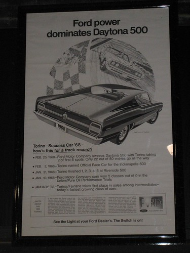 Floyd Garret Muscle Car Museum Ford Torino Advertisement