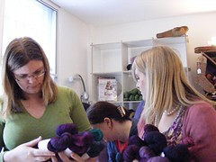 Purple yarn shopping