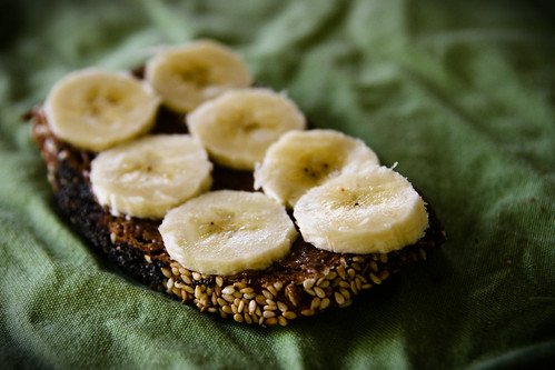 Banana and Almond Butter on Toast