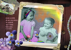 Anne-Marie ma soeur (Liberation of the Mind) Tags: family people photoshop memorial child sister human card memory cysticfibrosis thesuperbmasterpiece imageourtime fibrosekystique