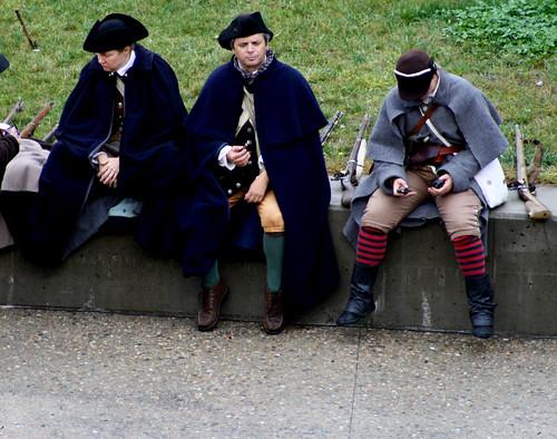 Minutemen with cell phones
