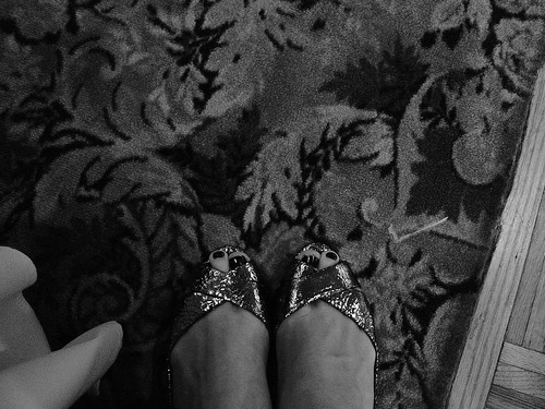 my feet and complicated wedding carpet