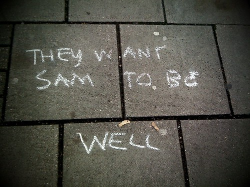 Written on the pavement