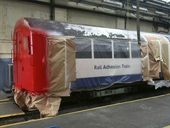 Prep work (routemaster_fan) Tags: underground tube londonunderground railways londontransport freshface 62ts ruislipdepot 62stock railadhesiontrain