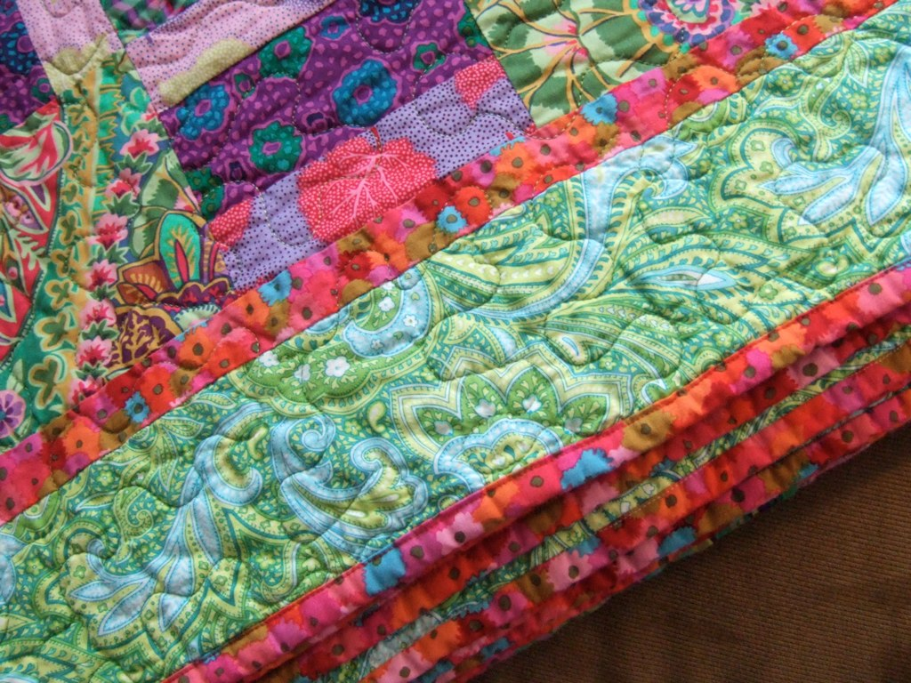 Kaffe Fassett Warm Wishes binding