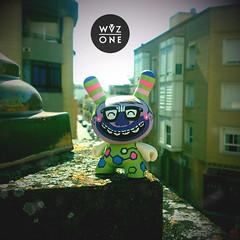 "3"" Pin&Cool (WuzOne) Tags: nerd toy vinyl kidrobot custom chemical dunny munny artoy wuzone pincool"