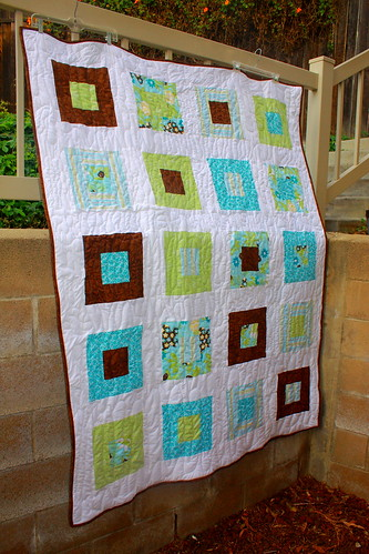 flowers & stripes quilt top