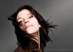 Tina 1.1 (m8bilder) Tags: portrait woman face hair studio gesicht wind portrt frau 2008 watermark haare wasserzeichen wwwm8bilderde dontstealmywork