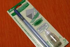 Caneta marcadora e dobradora