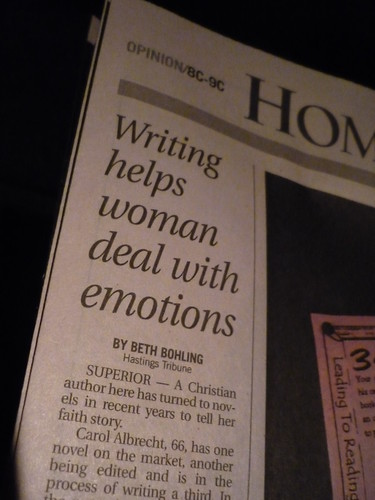 Writing helps woman deal with emotions