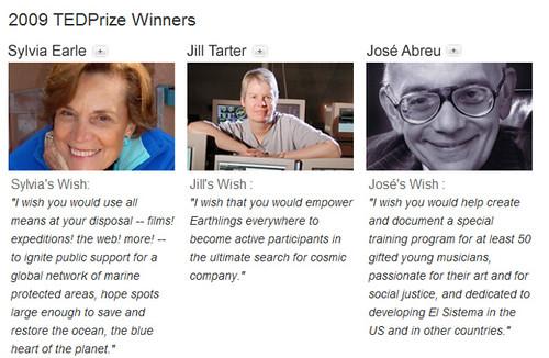 2009 TEDPrize Winners (by shannonpatrick17)