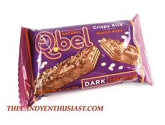 Q.bel Dark Chocolate Crispy Rice Wafer Bar Package