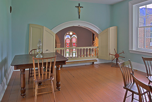 Old Saint Ferdinand Shrine, in Florissant, Missouri, USA - Convent balcony