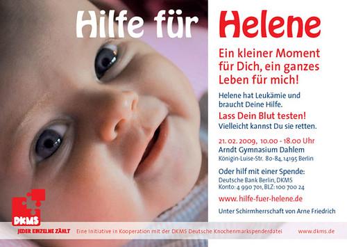 Hilfe für Helene Flyer