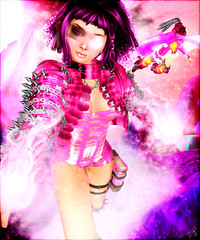 Cyber Candy Agent Ichigo (Divine Tokyoska) Tags: life pink cute girl bright avatar sl secondlife kawaii second cyber