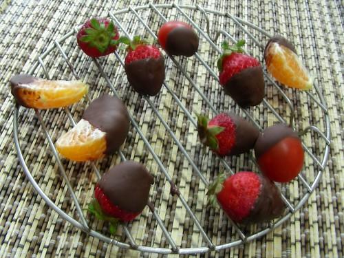 水果遇到巧克力