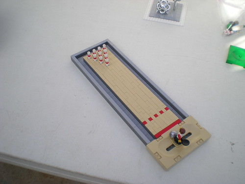 Custom made Minifig bowling game