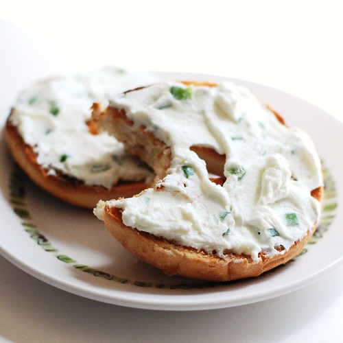 Jalapeno yogurt cheese!