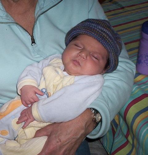 Baby Wiliam in his kippah