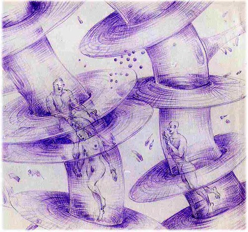"""triangle""23a violet pencil on paper"
