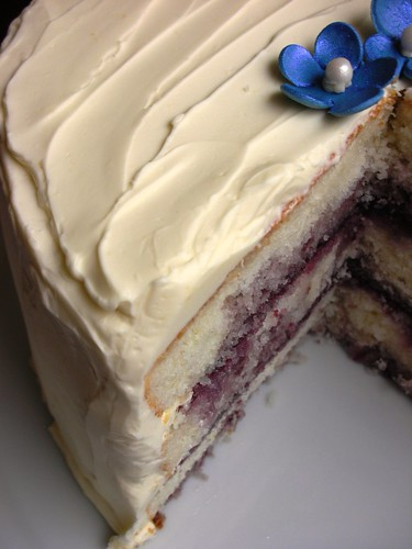 marbled lemon-blueberry butter cake