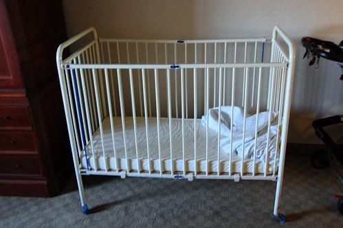 Romanian orphanage crib