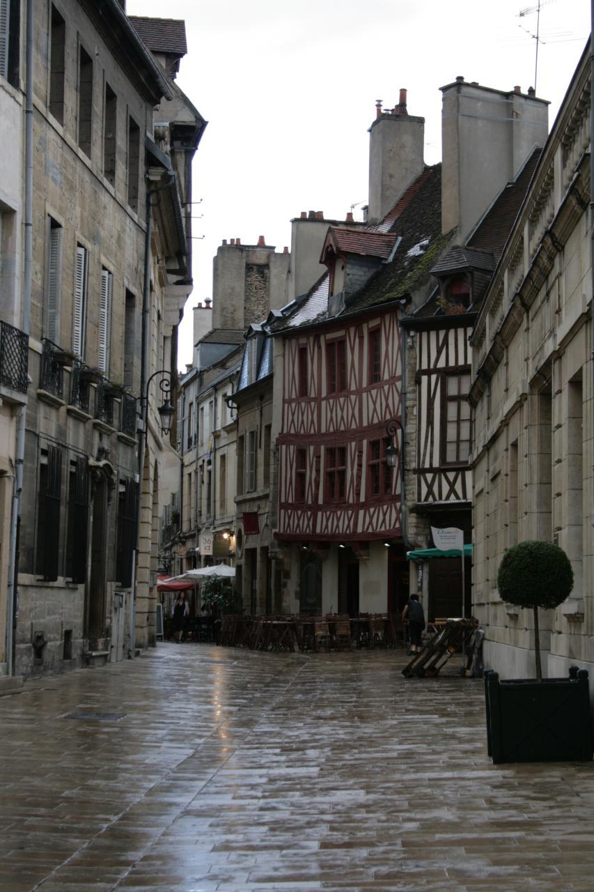 rain-wet street