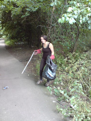 Helping out on a Sustrans cleanup