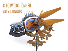 Clockwork Lionfish (V&A Steamworks) Tags: fish giant foot robot flying lego machine retro va clockwork steamworks lionfish tesla steampunk