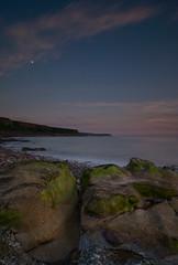 Evening Light, Parton Shore (Nick Landells) Tags: uk sunset sea moon coast tokina coastal shore cumbria whitehaven 1224mm eveninglight parton westcumbria d80 shoreling