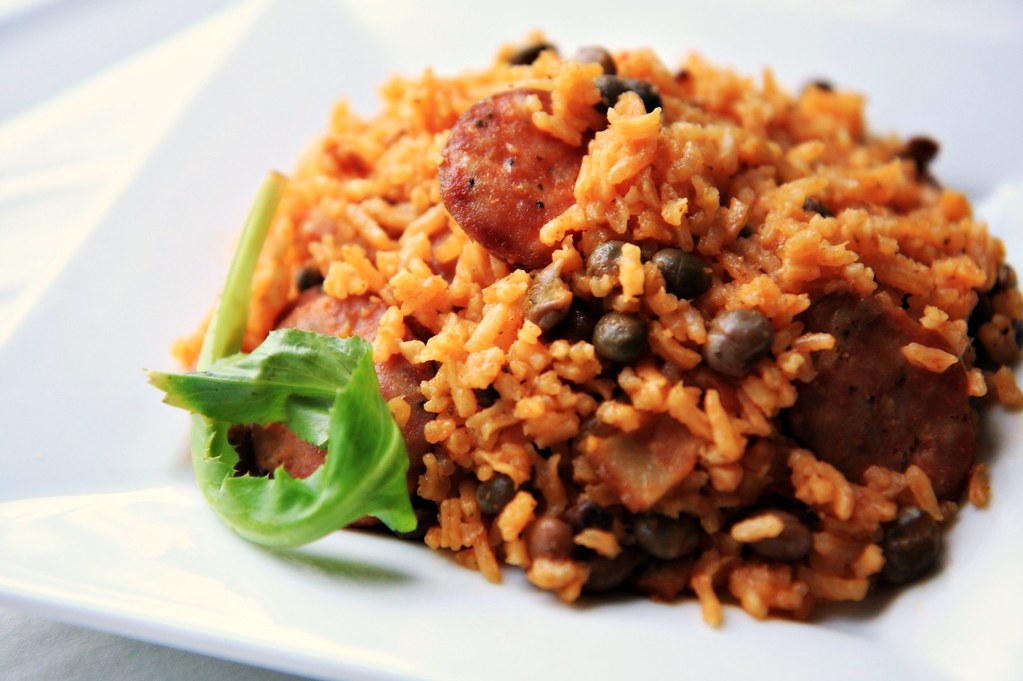 Arroz con Gandules (Rice with Pigeon Peas)