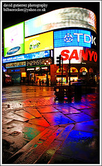 London Piccadilly Circus at Night ~ Colors of the London Rain...~ (david gutierrez [ www.davidgutierrez.co.uk ]) Tags: city u