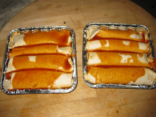 Enchiladas with sauce