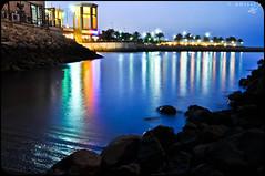 sharq corner (1 of 1) ( Fahad almnay3 \\\\) Tags: blue sea reflection water corner lights rocks colours fahad sharq   almunaya